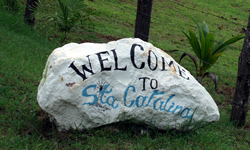 Santa Catalina Panama Welcome Sign